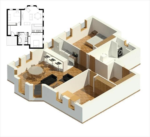 Real Estate Floor Plan Conversion Services, 3D / CAD Floor